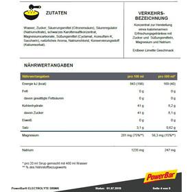 PowerBar Elektrolytische Drank 1l, Strawberry-Lime